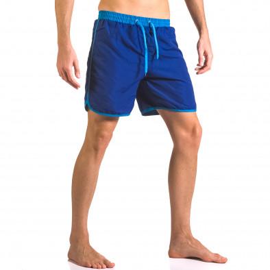 Мъжки сини бански тип шорти с удобни джобове ca050416-32 4