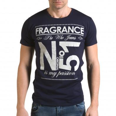 Мъжка синя тениска Fragrance No.51 Lagos 4
