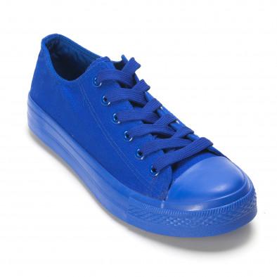 Мъжки сини кецове с гумена част отпред iv220420-2 3