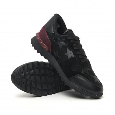 Комбинирани мъжки маратонки черно с бордо tr180320-27 4