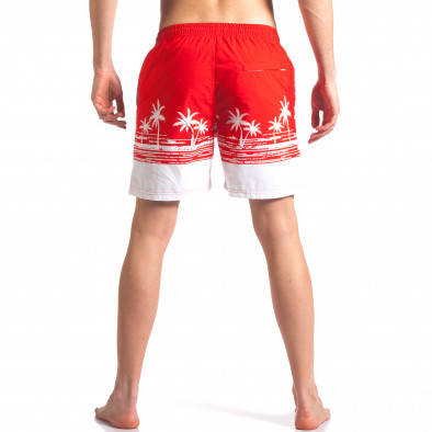 Мъжки червени бански с принт палми it250416-39 3