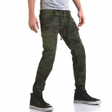 Мъжки панталон тъмно зелен камуфлаж it090216-11 4