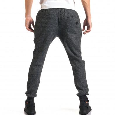 Мъжко сиво долнище с черни ленти it160916-38 3