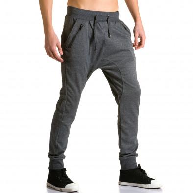 Мъжки тъмно сиви потури с ципове до джобовете Furia Rossa 5