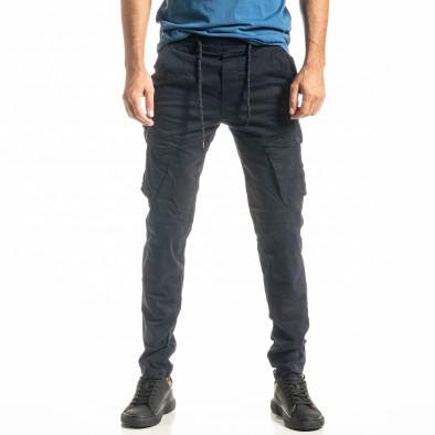 Мъжки син Cargo панталон с прави крачоли tr300920-7 2