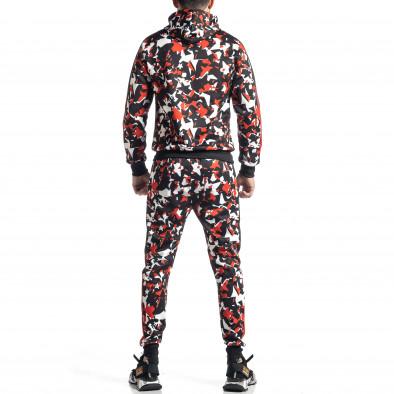 Мъжки черно-червен анцуг All over print it010221-51 6