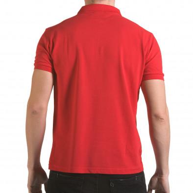 Мъжка червена тениска с яка с надпис Franklin NYC Athletic Franklin 4