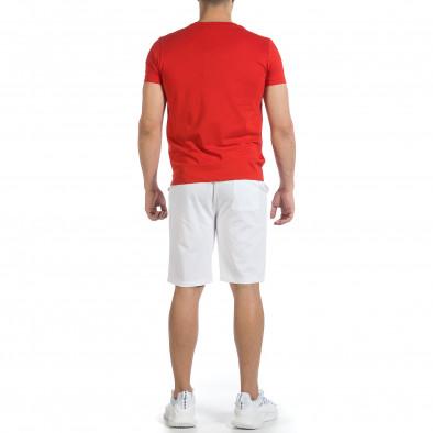 Мъжки комплект Disculpe в червено и бяло it040621-4 4