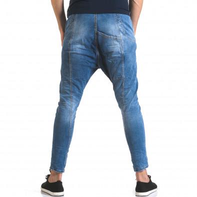 Мъжки светло сини дънки с много смъкнато дъно Always Jeans 5
