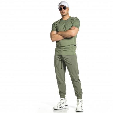 Мъжки шушляков панталон Jogger в зелено tr150521-27 2