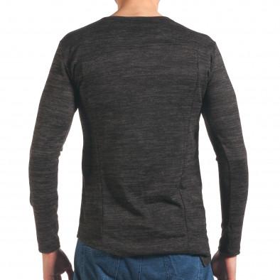 Сива мъжка блуза удължен модел it250416-82 3
