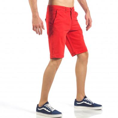 Мъжки червени къси панталони с италиански джобове it260318-138 4