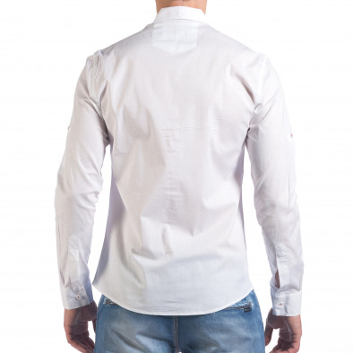 Мъжка бяла риза класически модел il060616-113 3