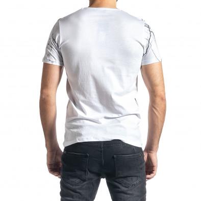 Мъжка бяла тениска Famous tr010221-5 3