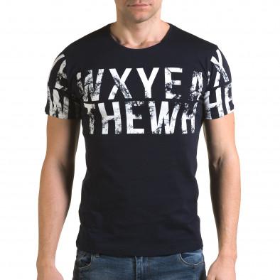 Мъжка синя тениска Wxyea Thewh il120216-35 2