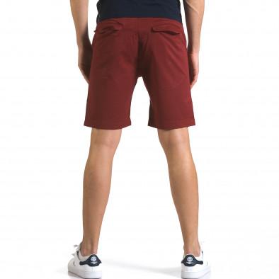 Мъжки червени къси панталони с връзки it110316-38 3
