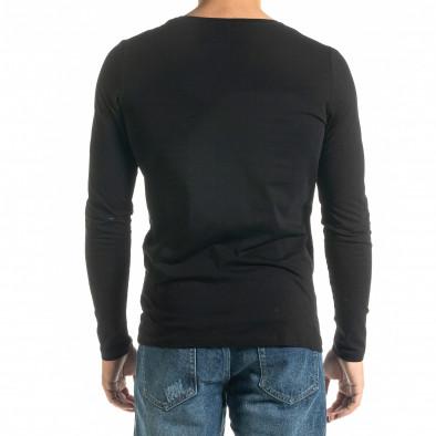 Мъжка черна блуза  Mickey Gloves tr020920-51 3