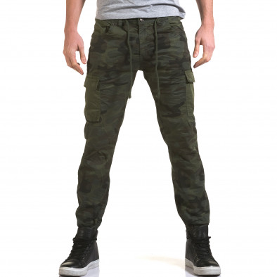 Мъжки панталон тъмно зелен камуфлаж it090216-11 2