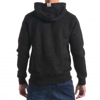 Мъжки черен  суичър ъс сребристи ципове it240816-43 3