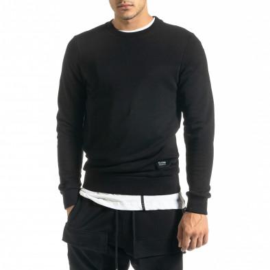 Basic мъжка памучна блуза в черно tr020920-45 2
