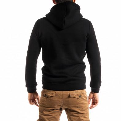 Плътен мъжки черен суичър с цип tr300920-27 3