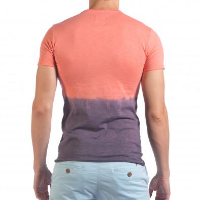 Мъжка розово-лилава тениска Live Life With Love SAW 4
