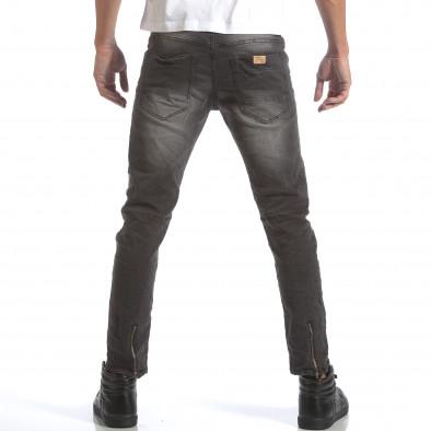 Мъжки сиви дънки със скъсвания на коленете it160817-9 3