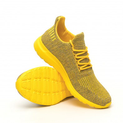Мъжки маратонки жълт меланж с декорация it171019-2 4