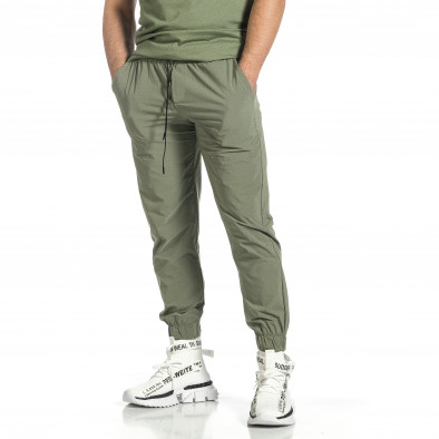 Мъжки шушляков панталон Jogger в зелено tr150521-27 3