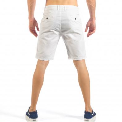 Мъжки basic къси панталони в бяло it260318-124 4