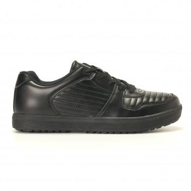Мъжки черни кецове с допълнителни шевове it020617-7 2
