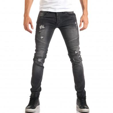 Мъжки сиви дънки с хоризонтални шевове it160916-16 2