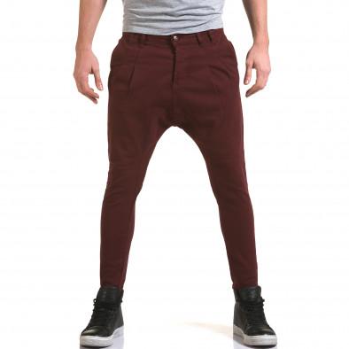 Мъжки червени дънки с кройка на потури it090216-21 2