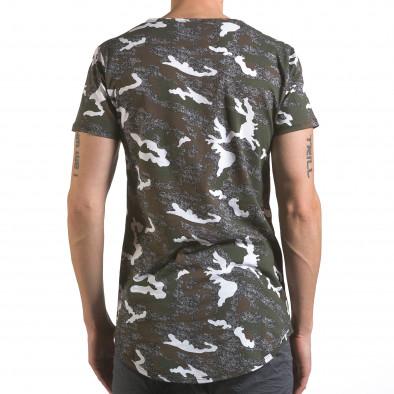 Мъжка тениска сиво-зелен камуфлаж it110316-97 3