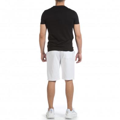 Мъжки комплект Streetwear в черно и бяло it040621-3 4