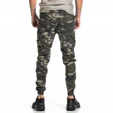 Мъжки карго панталон сиво-зелен камуфлаж tr270421-6 3