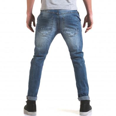 Мъжки светло сини дънки с декоративен цип отпред it090216-4 3
