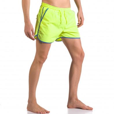 Неоново зелени бански шоорти с джобове ca050416-12 4