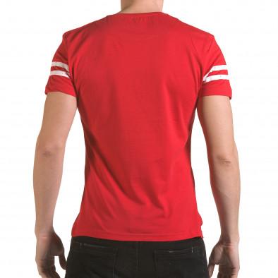 Мъжка червена тениска с голям номер 9 Franklin 4