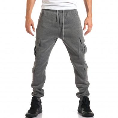 Мъжки сиви потури с джобове на крачолите it160916-25 2