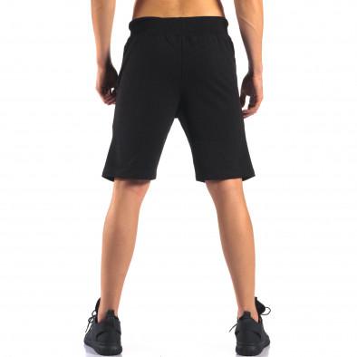 Черни мъжки спортни шорти изчистен модел it160616-11 3