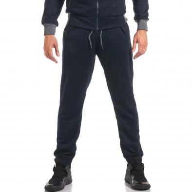 Мъжки син спортен комплект с декоративен цип it160916-78 5