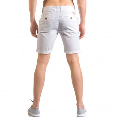 Бели мъжки къси панталони с италиански джобове ca050416-62 3