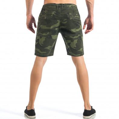 Мъжки камуфлажни къси панталони с емблеми  it110418-27 4