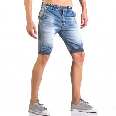 Мъжки къси дънки тип потури ca050416-68 4