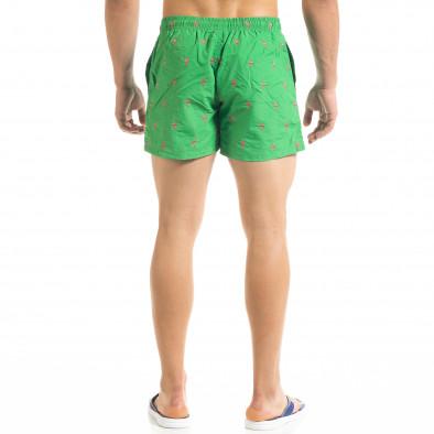Мъжки зелен бански Flamingo мотив it050620-29 3