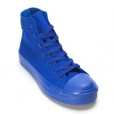 Мъжки високи сини кецове с гумена част отпред it090616-29 3