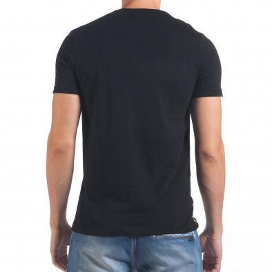 Мъжка черна тениска с надпис California il060616-64 3