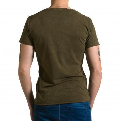 Мъжка зелена асиметрична тениска с обърната буква А ca190116-46 3