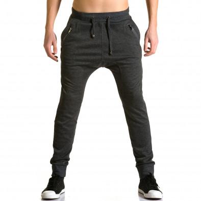 Мъжки черни потури с ципове до джобовете ca190116-19 2